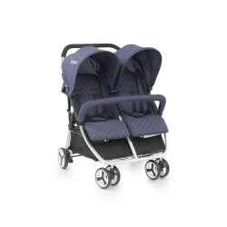 babystyle oyster twin wózek bliźniaczy spacerowy oxford blue