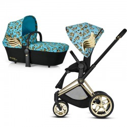 cybex priam 2.0 jeremy scott cherubs blue + gondola
