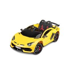 toyz lamborghini aventador svj pojazd na akumulator yellow