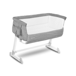 lionelo theo łóżeczko dostawne concrete grey