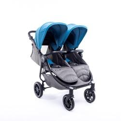 baby monsters wózek bliźniaczy easy twin 4 black atlantic