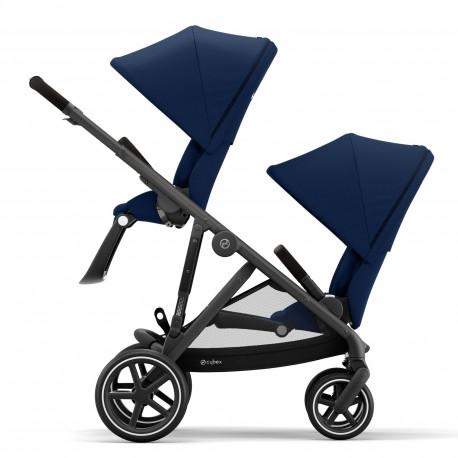 cybex gazelle s wózek bliźniaczy blk navy blue