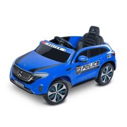 toyz mercedes eqc policja pojazd na akumulator blue