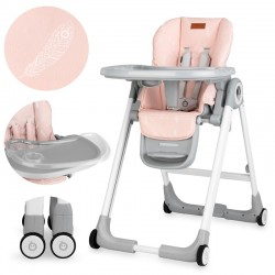 momi luxuria krzesełko do karmienia różowy