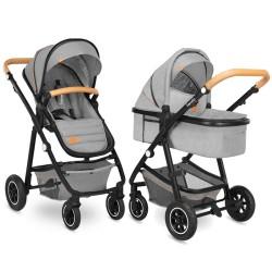 lionelo amber wózek 2w1 grey stone