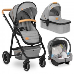 lionelo amber wózek 3w1 grey stone