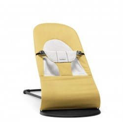 babybjorn balance soft leżaczek cotton jersey żółty