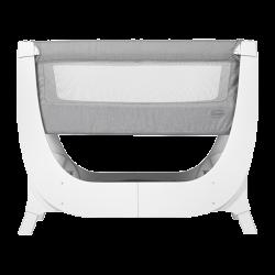 shnuggle air bedside crib łóżeczko dostawne dove grey