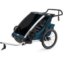 thule chariot cross 2 przyczepka rowerowa majolica blue