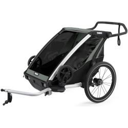 thule chariot lite 2 przyczepka rowerowa agave