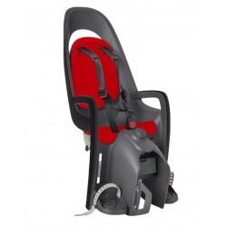 hamax caress fotelik rowerowy na bagażnik szaro-ciemnoszary z czerwona wysciolka
