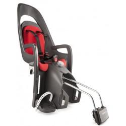 hamax caress fotelik rowerowy szary ciemnoszary czerwony