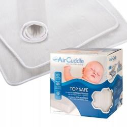 aircuddle easysafe combo materac z matą antypotową 120x60 + prześcieradło Angel