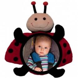 little luca baby car mirror lusterko z maskotką biedronka