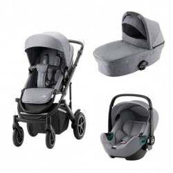 britax&romer smile 3 wózek 3w1 z fotelikiem baby-safe isense