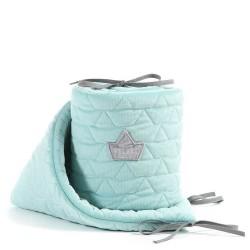la millou ochraniacz do łóżeczka velvet collection audrey-mint