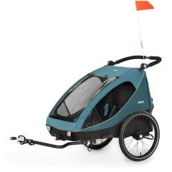 hauck dryk duo przyczepka rowerowa / wózek spacerowy petrol