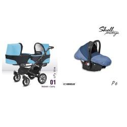 babyactive wózek twinni + gondola + fotelik