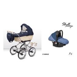 babyactive wózek ballerina wiklina + gondola + fotelik
